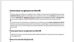 Cómo hacer un glosario en Word 6